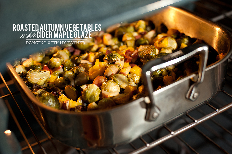 roasted autumn vegetables with cider maple glaze a