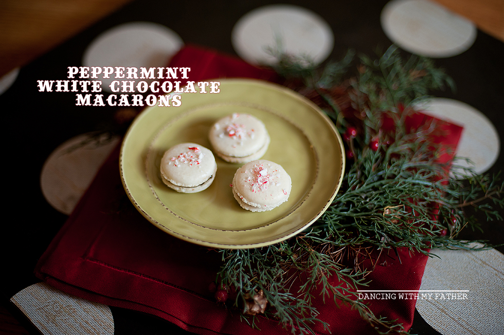 peppermint dark chocolate macarons dwmfc