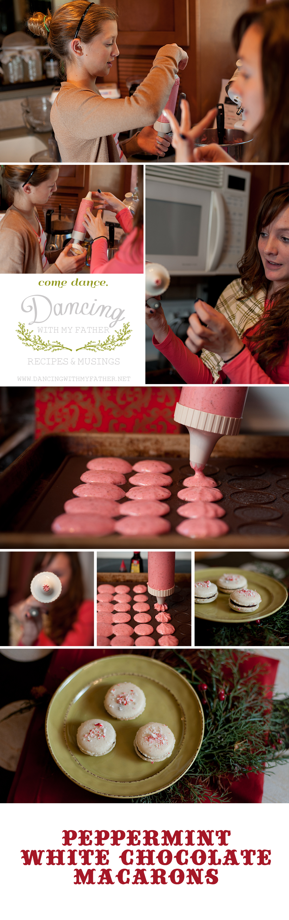 peppermint dark chocolate macarons dwmfd