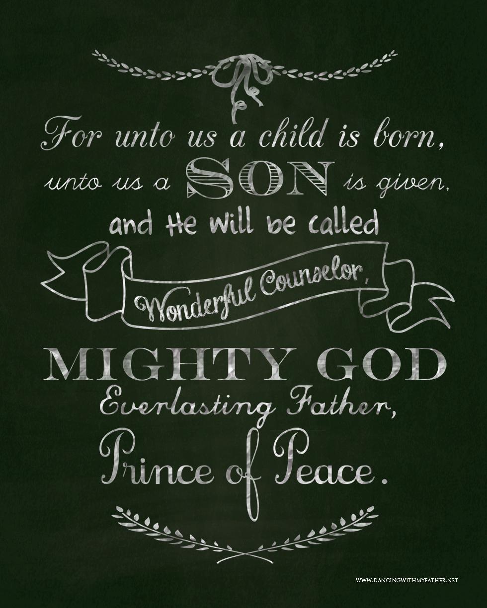 unto us a child is bornWEB