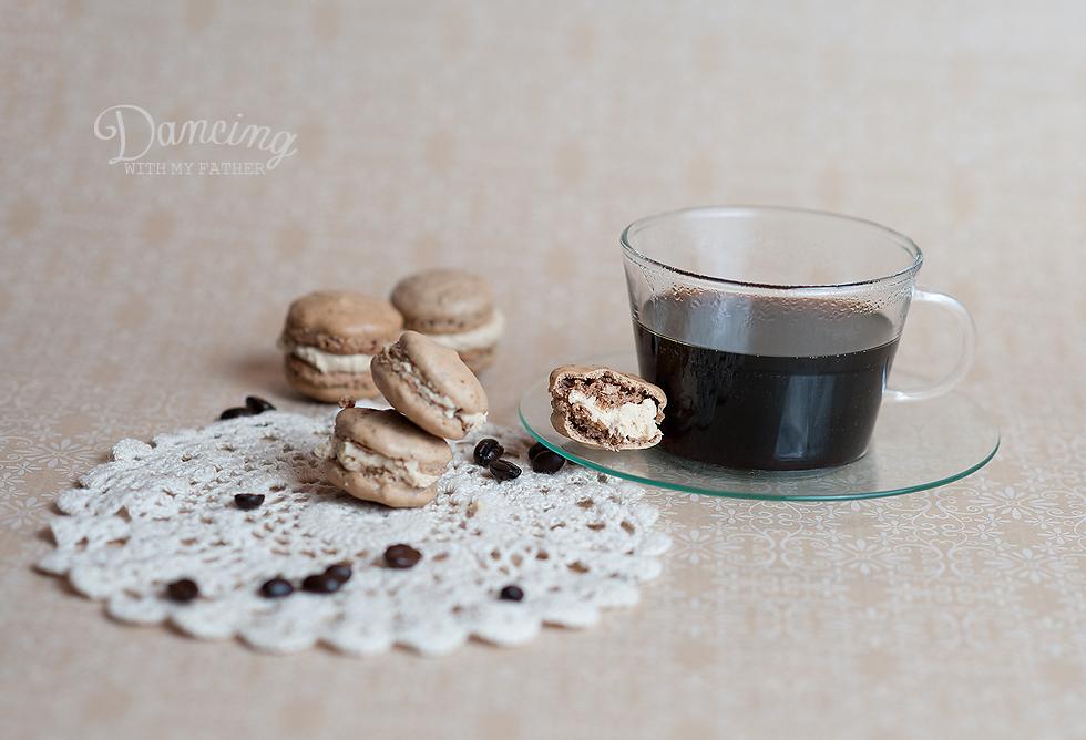 espresso parisian macaron with espresso buttercream B