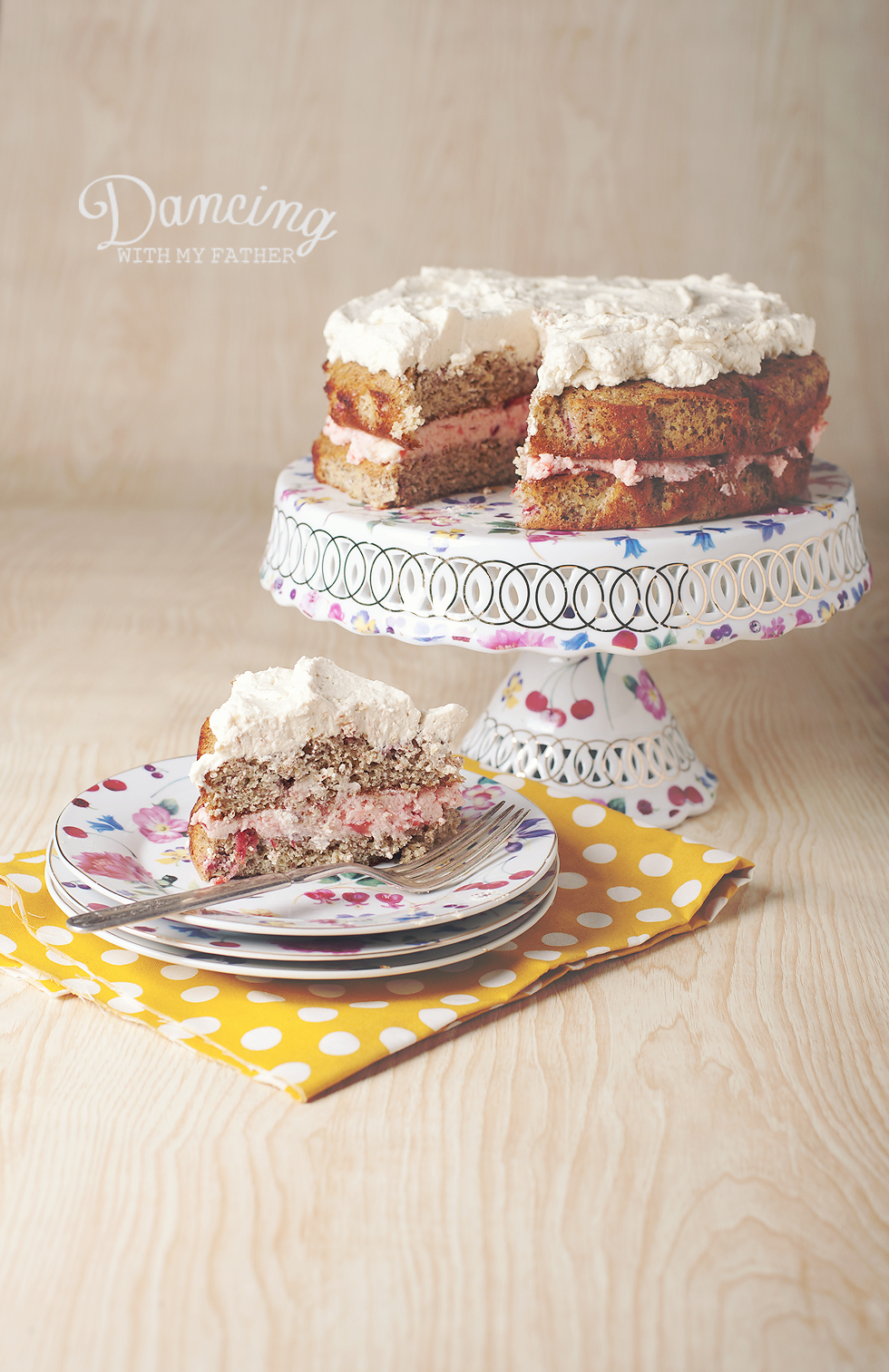 strawberry almond flour cake b