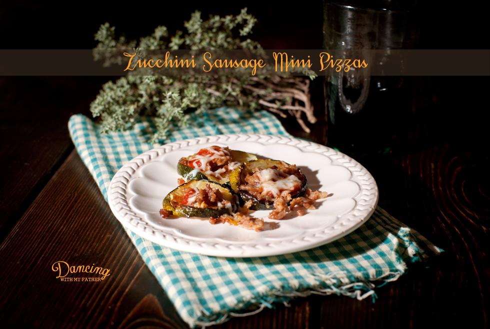 sausage zucchini mini pizzas title