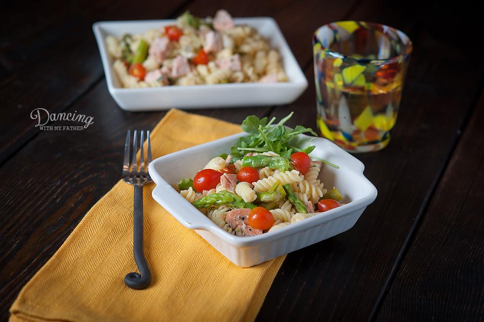 gluten free pasta with salmon b