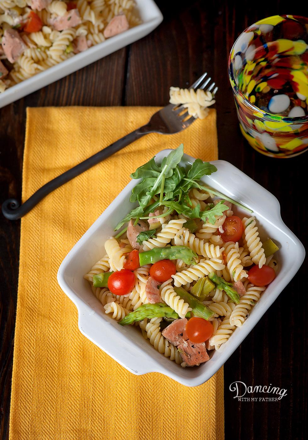 gluten free salmon pasta a