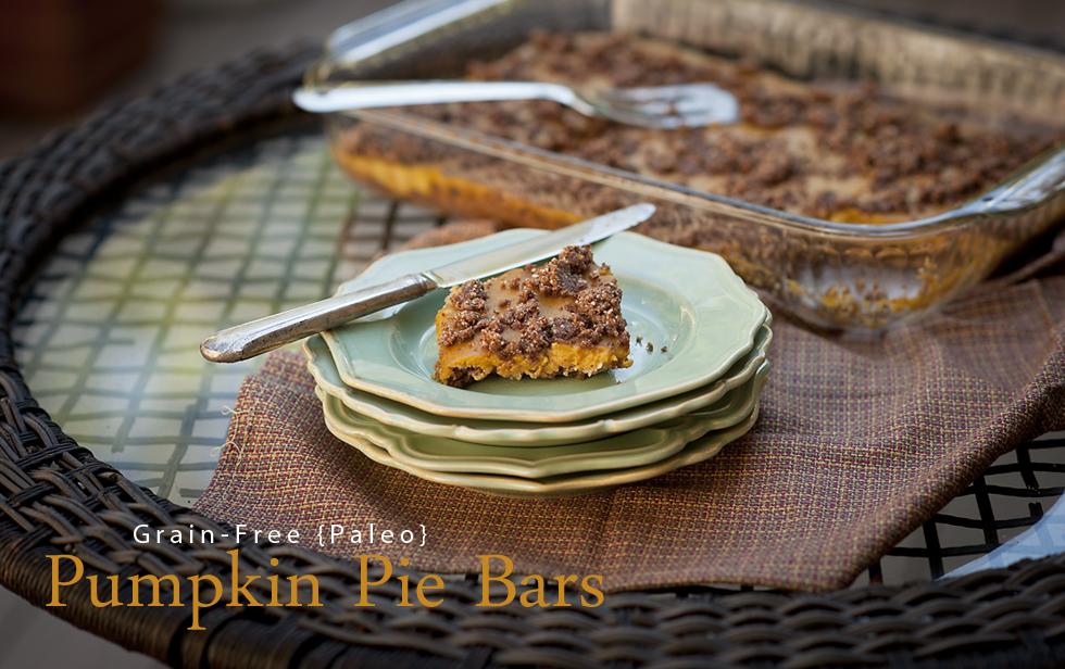 paleo pumpkin pie bars a